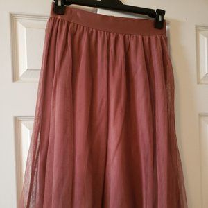 Women's Rose Gold tulle skirt by EXPRESS size S/P